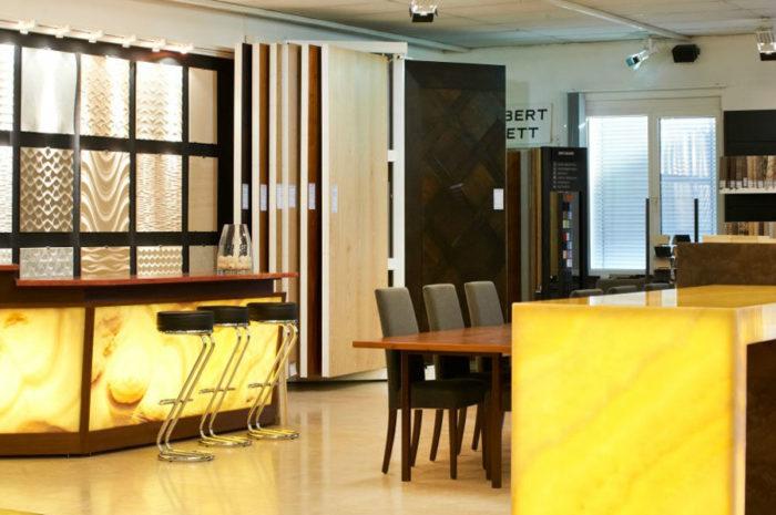 Kundenempfang im Schubert Steinzentrum in Wien