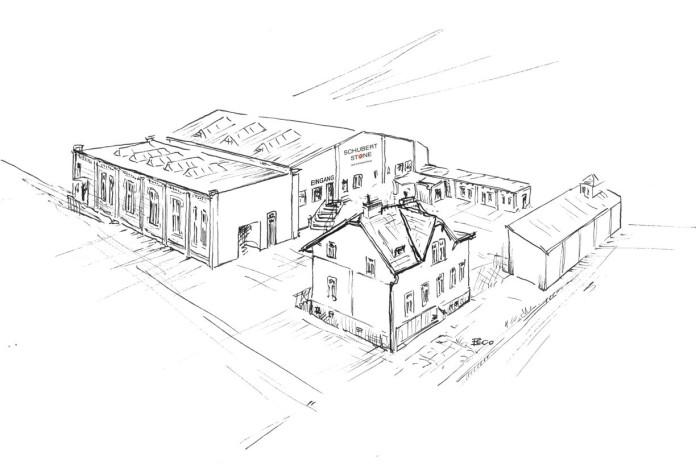 Skizze des Steinzentrums in 1230 Wien