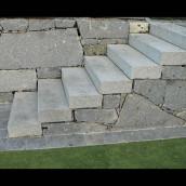 Granit Pflaster Stiege