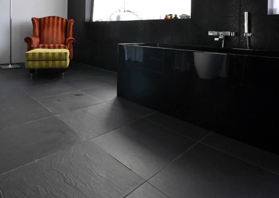 Schiefer schubert stone naturstein for Fliesen badezimmer schwarz