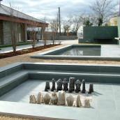 Schiefer Garten Terrasse