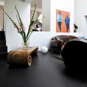 Schiefer Wohnzimmer schwarz