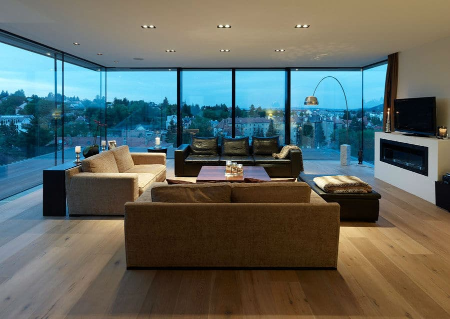 Wohnzimmer modern weis