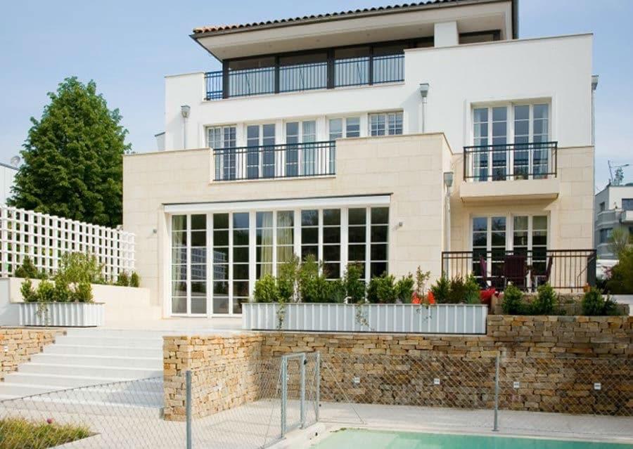 Mediterrane villa in wien schubert stone naturstein for Gartengestaltung 1230 wien