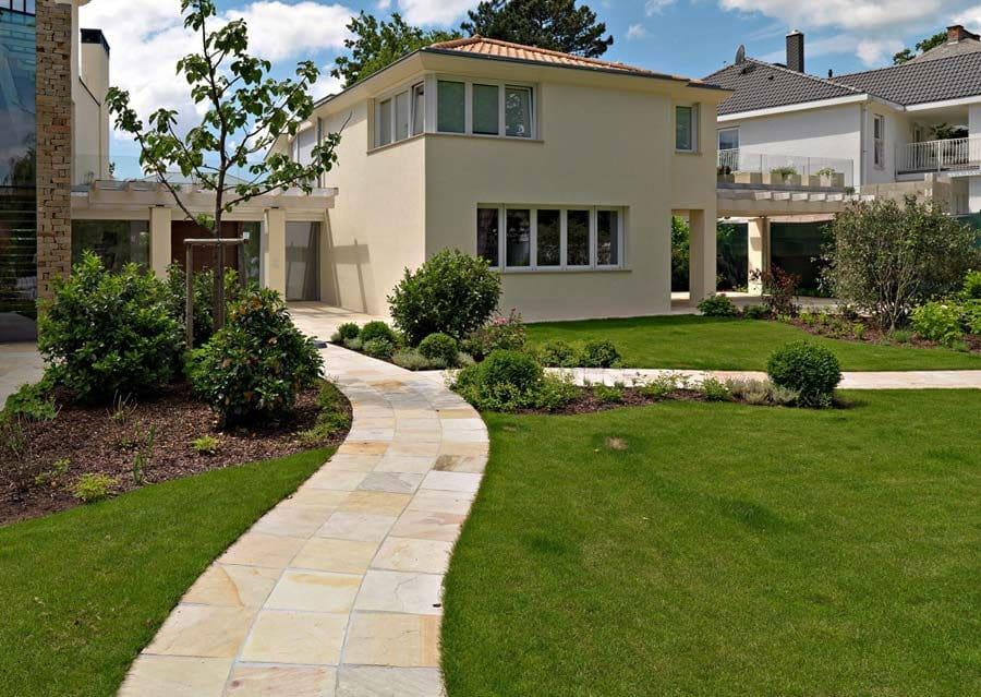 architektenvilla in wien - schubert stone | naturstein, Hause und Garten