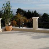 Terrassen Kalkstein Levante Crema Balkon