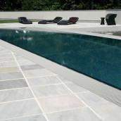 Terrassen Sandstein Garten Pool