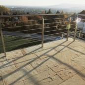 Terrassen Sandstein mint Balkon